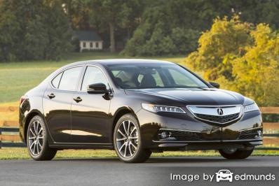 Insurance rates Acura TLX in Irvine