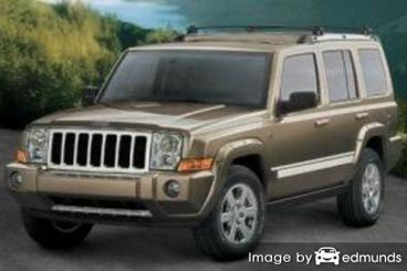 Insurance rates Jeep Commander in Irvine