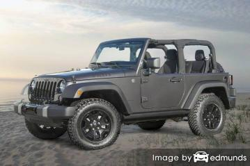 Insurance quote for Jeep Wrangler in Irvine