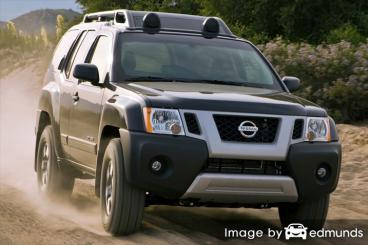 Insurance rates Nissan Xterra in Irvine